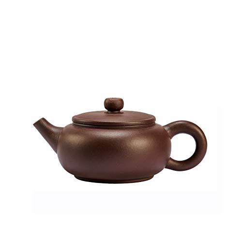 Chinesische Yixing Zisha Teekanne, Handgemachte Purpurrote Lehm Teekanne, Xiaobiandun Lila Ton Teekanne Für Eine Person, Für Geschenk Und Haushalt, 140Ml