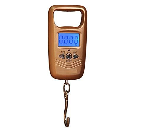 Taschenwaage Feinwaage Digitalwaage Waage Digitalwaage Zum Angeln Gepäck Gepäckgewichtung Steelyard Tragbarer Elektronischer Aufhängehaken Waage-Gold_50Kg_110Lb