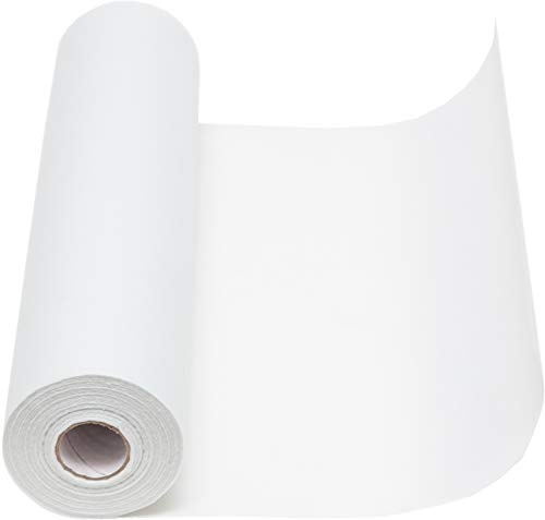 100%Mosel Vlies Tischläufer, in Weiß (30 cm x 25 m), dekoratives Tischband aus Stoff, edle Tischdeko für Geburtstage & Hochzeiten, Bunte Dekoration zu besonderen Anlässen