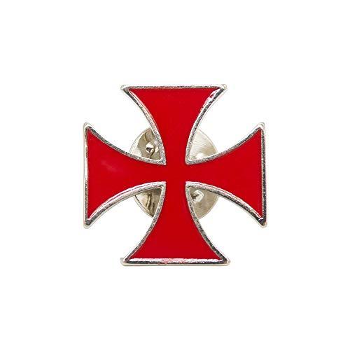 Finoly Pin Camino de Santiago para Ropa Varios Diseños Xacobeo Jacobeo (Pin Cruz Templaria Templarios Malta)
