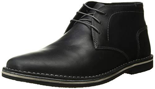 Steve Madden Men's Harken Chukka Boot, Black Leather, 12 Wide US
