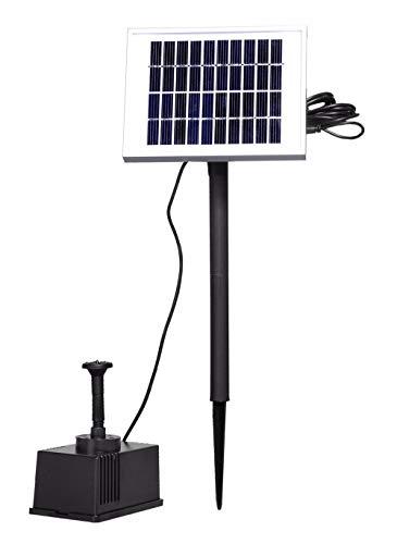 UISEBRT 2W Springbrunnen Solarpumpe Wasserspiel Fontäne Solar Pumpe Teichpumpe für Garten,Vogel-Bad,Teich,Fisch-Behälter (2W)