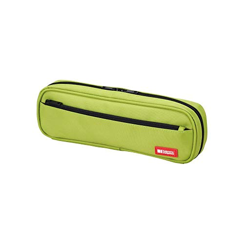 LIHIT LAB Pen Case, 9.4 x 1.8 x 3 inches, Yellow Green (A7552-6)