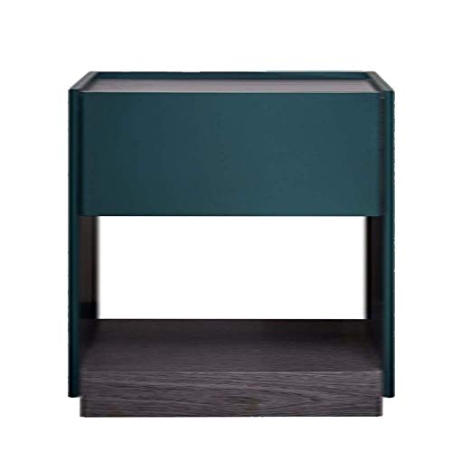 ZGQA-GQA Ash End Table Nightstand Sofa Side Furniture Display Shelves for Living Room Bedroom Home Accessories Office 2 -Drawers Malachite green Corner table (Color : Green, Size : 50×45×5