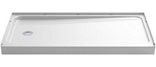 a KOHLER Company  Ensemble Shower Base with Left-Hand Drain, 60 x 32-Inch, White - STERLING 72181110-0