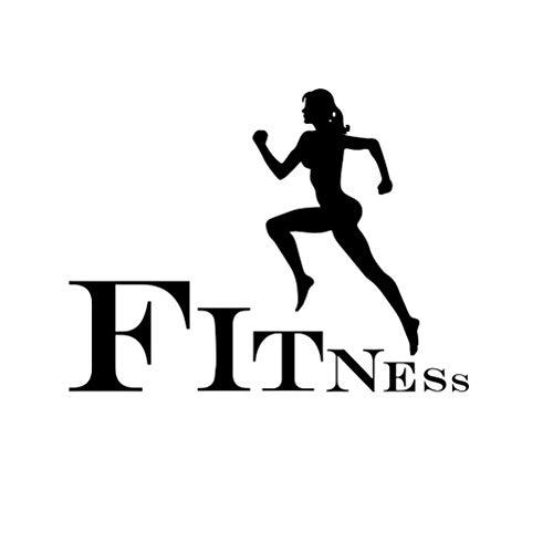 VOSAREA Fitness da Jogging Correre Adesivi murali Palestra Decalcomania da Muro Vinile Arte