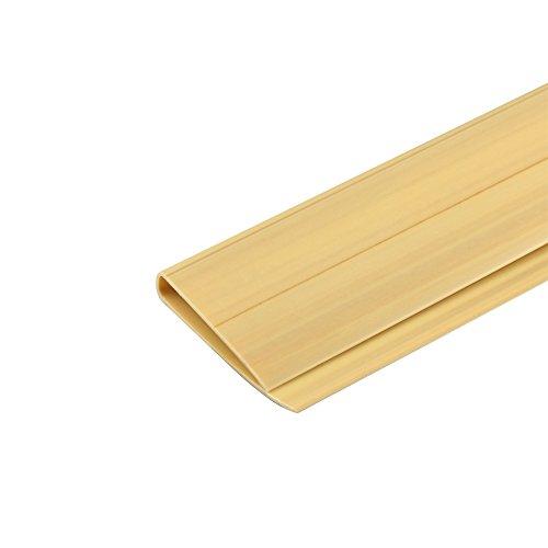 jarolift PVC Abdeckprofil für Sichtschutzmatten, Bambus, 2 m Länge