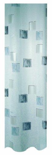 Spirella Milano Duschvorhang mit Perl-Effekt, Textil/Polyester, 180x200cm, weiß/Silber/grau