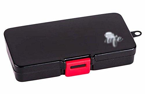 Black Temptation Portable 10 Grilles Pill Case décent Pilulier Pratique-Noir