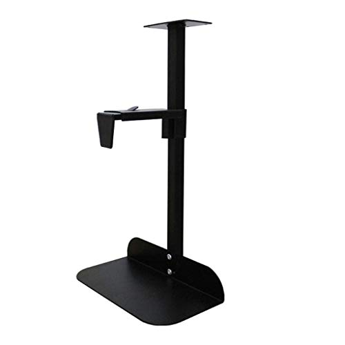 DFBGL CPU Stand CPU Holder Under Desk Mount Adjustable Desktop Host Chassis Bracket Chassis Base Bracket Desktop Hanger Hanging Metal Host Support PC Tower Holder Cart (Color : Black)