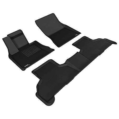 3D MAXpider L1BM05501509 Complete Set Custom Fit All-Weather Floor Mat for Select BMW X5 (F15)/ X6 (F16) Models - Kagu Rubber (Black)