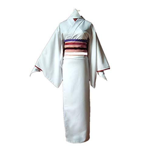 ULLAA 9PCS Noragami Nora Disfraz de Cosplay, Traje de Kimono Informal japons, Trajes de Vestido Yukata, Ropa de Carnaval de Halloween Accesorios