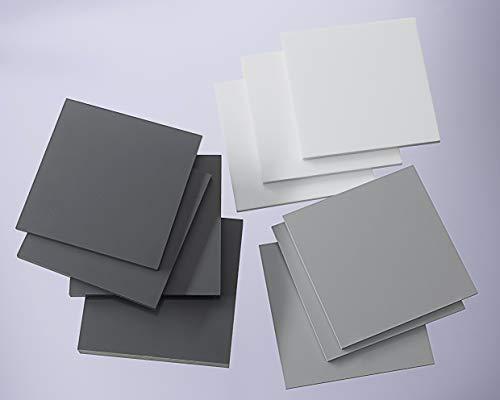 PVC Hartplatte hellgrau 2-20 mm Zuschnitt SIMONA® RÖCHLING® TROVIDUR® (3 mm, 195 x 195 mm)