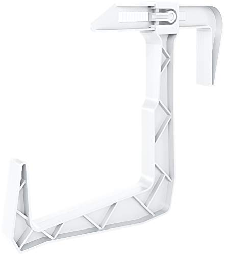 """Dunes Clamp-on Universal Fit, Adjustable Planter Box Rail Brackets for Balcony, Fence (for x-x"""" railings) 2 Pack (White)"""