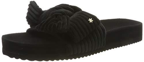 flip*flop Damen poolcord Bow Pantoletten, Schwarz (Black 0000), 38 EU