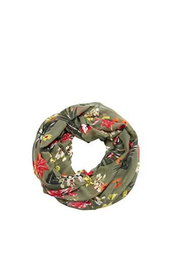 s.Oliver Damen Loop mit floralem Muster khaki/oliv AOP 1