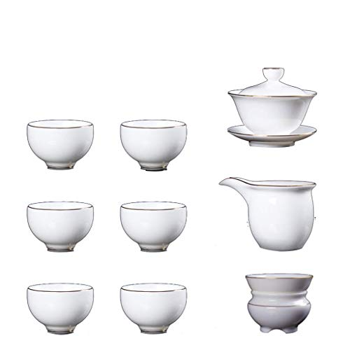 COOLSHOPY el Norte de Europa HL Phnom Porcelana Blanca Cubierta de la cavidad Juego de té, Regalo del Negocio de la Tetera El