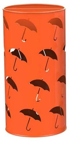 Regenschirm-Stand, Leder-Regenschirm-Ständer, mit Regenschirm-Eimer-Show Regenschirm-Horn,Red