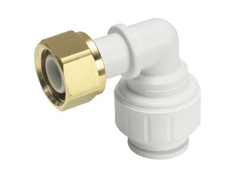 John Guest Speedfit PEMBTC1514 - Raccordo curvo rubinetto, 15 mm x 1/2', confezione da 5