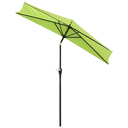 Yescom 10ft Outdoor Patio Half Umbrella for Wall Balcony Door Parasol Yard Sun Shade with Tilt and Crank Bright Green