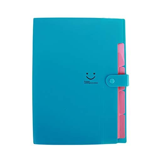 Yeucan Candy Color Paket Dokumente Ordner Umschlag Multilayer Einfügen Dokumententasche, blau