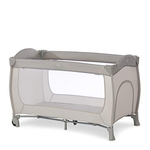 Hauck Sleep N Play Go Plus 4-teiliges Kombi-Reisebett, ab Geburt bis 15 kg, inkl. Schlupf, Rollen, Faltboden, Tragetasche, Kompakt Faltbar - Beige