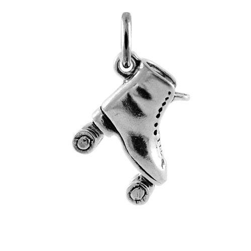 TheCharmWorks Sterling-Silber Rollschuh Charmanhänger | Sterling Silver Roller Skate Charm
