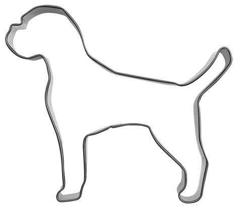 Formina Ausstecher Boxer - 9,5 cm aus Edelstahl