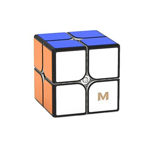 Gobus Yongjun YJ MGC2 Elite M 2x2 Speed Cube YJ MGC2 2 strati 2x2x2 Cube Puzzle Yongjun MGC M Elite + una borsa per cubi e un supporto per cubi Nero