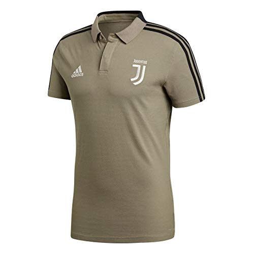 adidas Herren Juve Core Kurzarm Polo-Shirt, Clay/Black, S