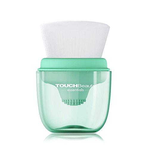 TOUCHBeauty - Spazzola per la pulizia viso in silicone 2 in 1, lavaggio profondo morbido con pratico supporto, AG-1762