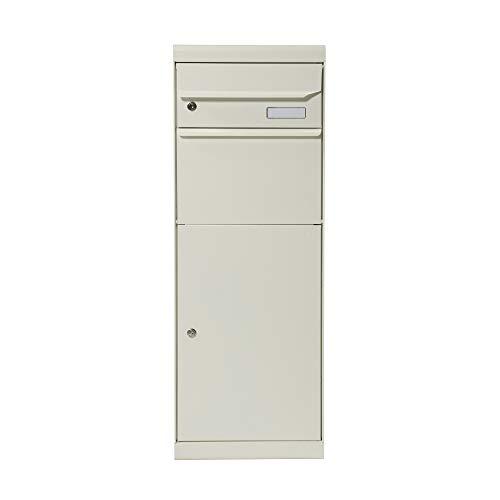 Renz 661011M MEFA pakketbrievenbus Maple 661 (kleur zuiver wit semi mat, brievenbus met slot, grootte 1091x402x303), wit