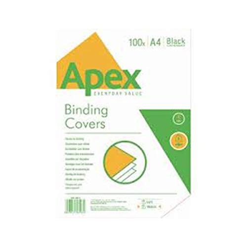 Apex 65009 - Pack de 100 portadas cartulina imitación cuero A4, color blanco