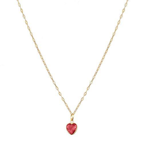 Colar Cordão Corrente Americana 40cm Pingente Coração De Ouro 18k