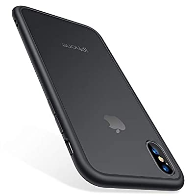 TORRAS Shockproof iPhone Xs Case/iPhone X Case,[Military Grade Drop Tested][2nd Generation] Translucent Matte Hard Back with Soft Edges,Protective Case for iPhone X/Xs 5.8 inch, Matte Black