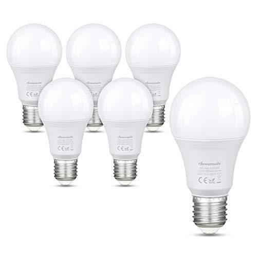 DEWENWILS E27 LED Lampe Dimmbar, A60 Warmweiss 2700K LED Glühbirne, 10W 800Lumen, Edison Schraube, Ersatz für 60W Glühlampe, 6er Pack, CE und RoHS zertifiziert
