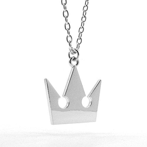 papapanda Kingdom Hearts - Collar con corona y cadena de aleación de plata