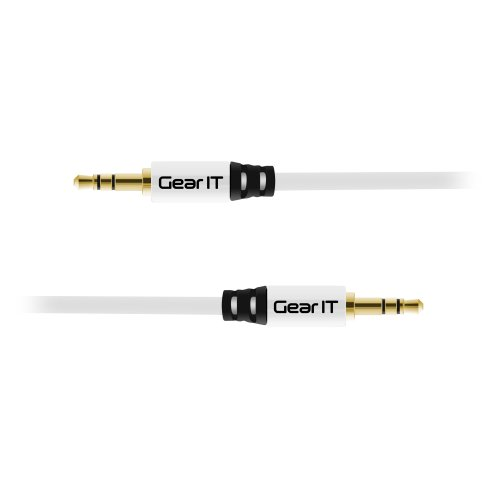 3.5mm Audio Cable, 3.5mm Audio Cable Male to Male, GearIT (4 Feet/1.21 Meters) 3.5 mm M/M Auxiliary Stereo Audio Connectors White