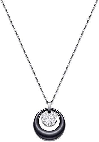 Collar de gran tamaño 3D cuerno de la suerte caballo colgante collar 37X28 Mm collar de color plata antiguo para mujer collar regalo
