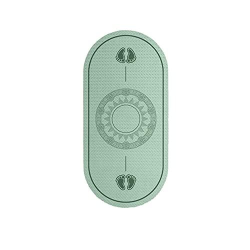 Alfombrilla antideslizante para saltar con cuerda, esterilla de yoga deportiva, ejercicio, absorción de golpes y silencio, tapete de ejercicio interior (verde)