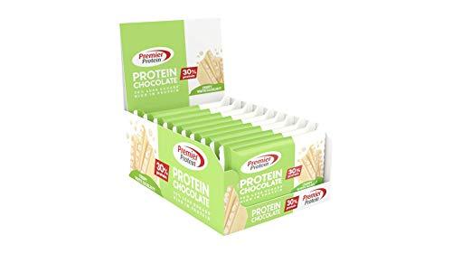 Premier Protein Chocolate White Hazelnut 20x40g - High Protein Low Sugar Schokolade