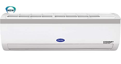 Carrier 1.5 Ton 5 Star Inverter Split AC (Copper 18K Emperia Nxi Hybridjet Inverter, White)