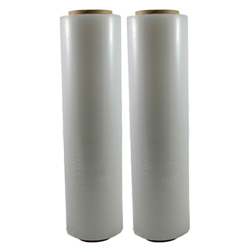 """TOTALPACK - 18"""" x 1000 FT Roll - 85 Gauge Thick + Hybrid Technology, 2 Pack. Stretch Moving & Packing Wrap. Industrial Strength, Clear Plastic Pallet Shrink Film Ideal for Furniture, Boxes, Pallets…"""