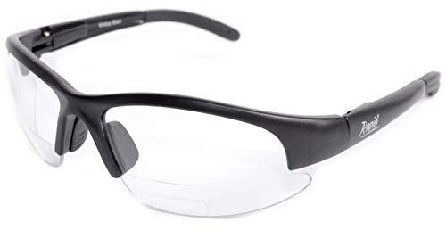 Rapid Eyewear GAFAS DE SEGURIDAD BIFOCALES CON LENTES TRANSPARENTES: 2.00 para hombre y mujer. Uso para conducción, ciclismo, bricolaje y trabajo de laboratorio