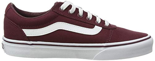 Vans Damen WM Ward Sneakers, Rot ((Canvas) Burgundy Olq), 38 EU
