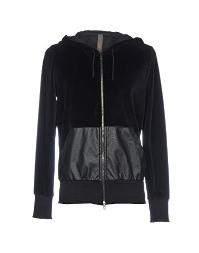 WLG by Giorgio Brato Italian Chic Velvet Finish Urban Sweatshirt Jacket,M/50/40US NWT$850 Black