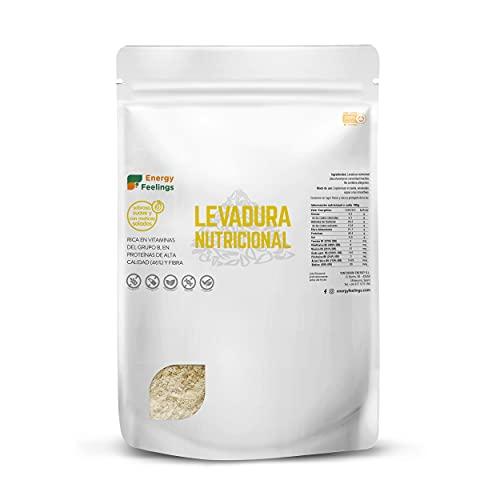 Energy Feelings | Levadura Nutricional en Copos con Vitamina B, Vegana, Sin Gluten, Sin Azúcar Añadido | 1kg