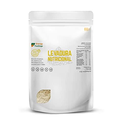 Energy Feelings   Levadura Nutricional en Copos con Vitamina B, Vegana, Sin Gluten, Sin Azúcar Añadido   1kg