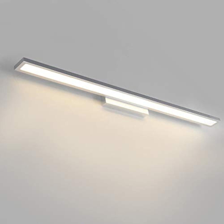 Vordere Scheinwerfer, Spiegel Badezimmer Wand Lampe LLamps Einfache, moderne Wc wasserdicht Spiegel Beleuchtung Silber (Farbe  warmes Licht -40 cm)