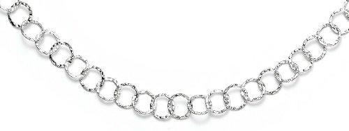 Sterling-Silber 925, gehämmert, rund, 42 cm-JewelryWeb Halskette,